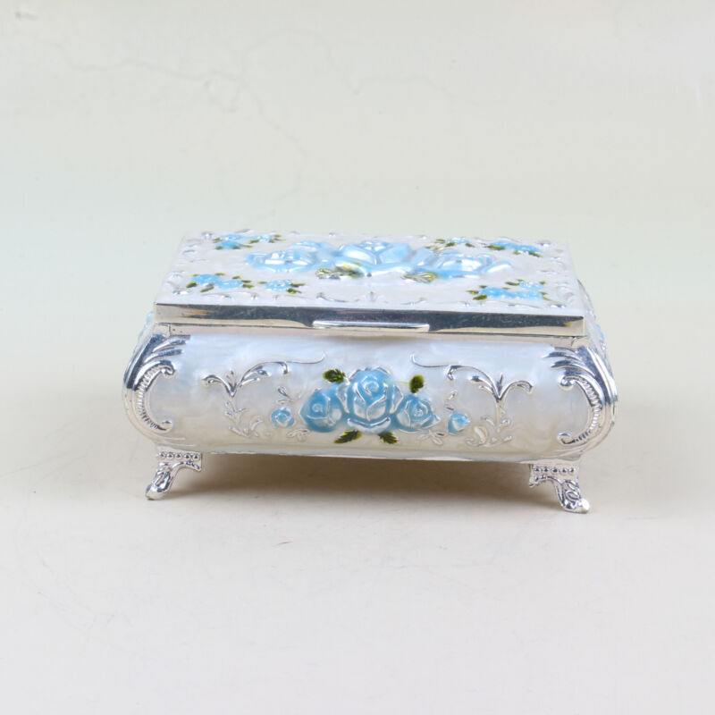 Chinese Collection alloy Sculpture flower Jewelry Box  XJ15