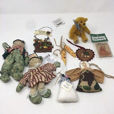 2 Frog Toad Bean Bag Plush Decorative 7 Christmas Tree Ornaments ty teddy bear