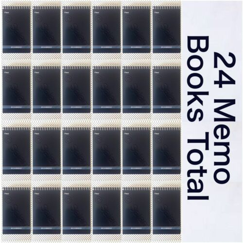 24 Mead Cambridge Writing Pad tablet 3 X 5 Small Memo Wirebound 12 X 2 = 24 Pack