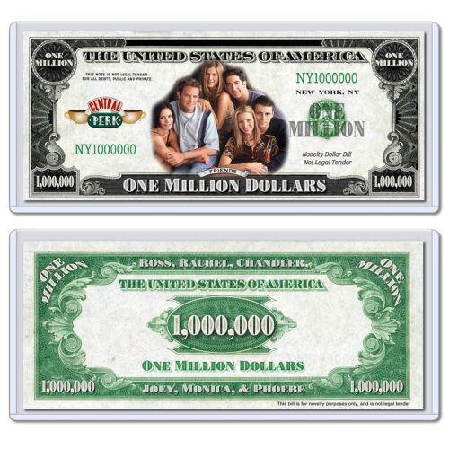 FRIENDS Million Dollar Bill Central Perk TV Show Collectible with Case NBC