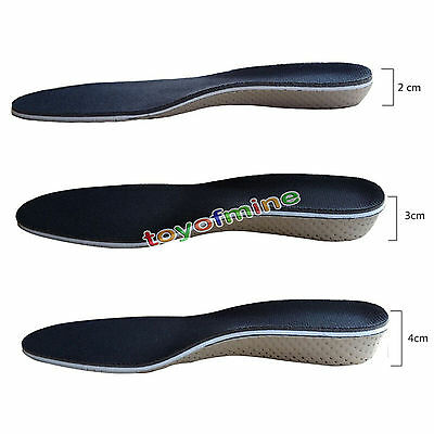 Hot Arch Support Shoe Insoles Heel Insert Increase Taller Height Lift 2 4Cm