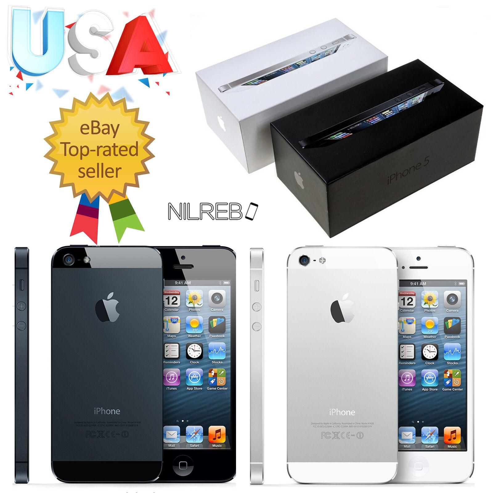 $156.78 - NEW FACTORY UNLOCKED APPLE IPHONE 5 16GB 32GB SMARTPHONE NEW BLACK WHITE CDMA