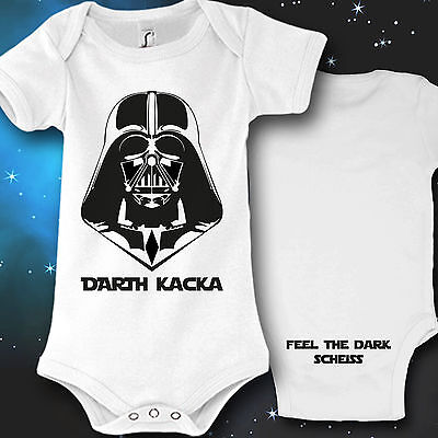 Baby-junge Ideen (Babybody Baby Strampler Druck Darth Kacka Geburt Geschenk idee lustig fun kult)