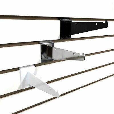 6 Slatwall Shelf Knife Brackets With Lip - Chrome 40 Pack