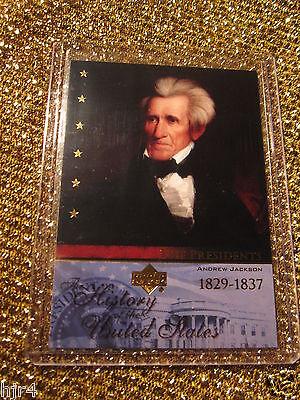 President Andrew Jackson 1829 United States Upper Deck Usa Trading Card