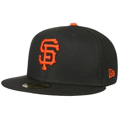 Brim Fitted Cap (NEW ERA 59Fifty AC Perf Giants Cap Baseballcap Basecap Fitted MLB Flat Brim San)