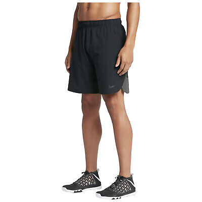 "Nike Mens Flex Vent Training Gym Tennis Woven 8"" Sports Running Shorts Black"