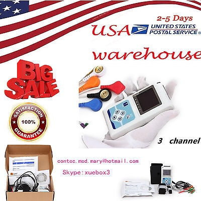 3 Channel Ecg Holter Ecgekg Holter Systemportable Monitor 24 Hours Recording