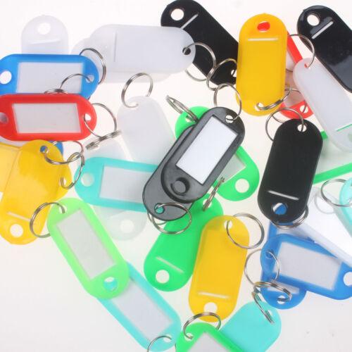 Lot of 100PCS Plastic Key Assorted Tags Rings ID Luggage Lab