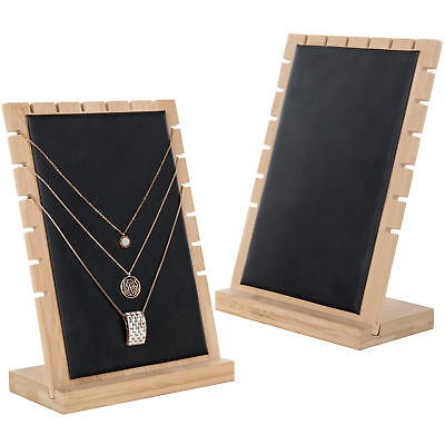 Mygift Modern Bamboo Necklace Jewelry Tabletop Display Boards Set Of 2
