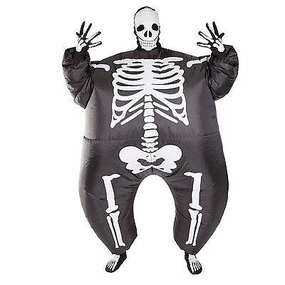 AUFBLASBARES SKELETT FÜR ERWACHSENE ANGSTERREGEND - Skelett Kleid Für Erwachsene Kostüm