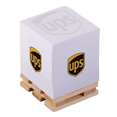 NEW UPS UNITED PARCEL SERVICE WHITE PAPER BUSINESS OFFICE NOTE PAD CUBE PALLET
