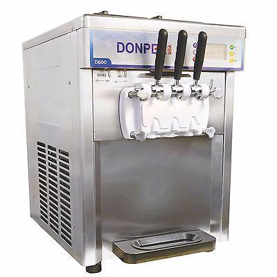 New Two Flavor With A Twist Soft Serve Ice Cream Frozen Yogurt Machine