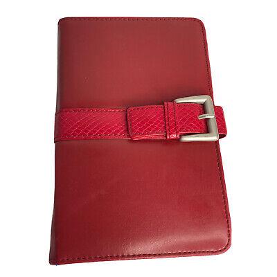Rolodex Red Wallet Business Card Holder Portfolio Bi-fold Snap Closure 8 X 5