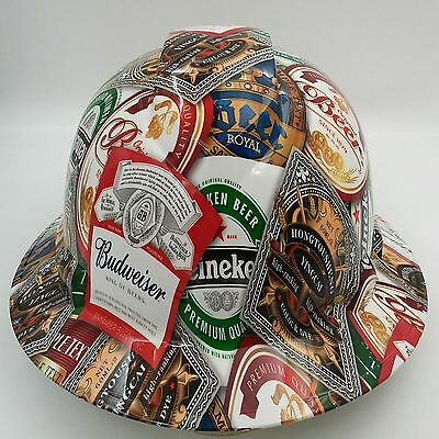 Hard Hat Custom Hydro Dipped Full Brim Beer Bomb Cervesa Bullard