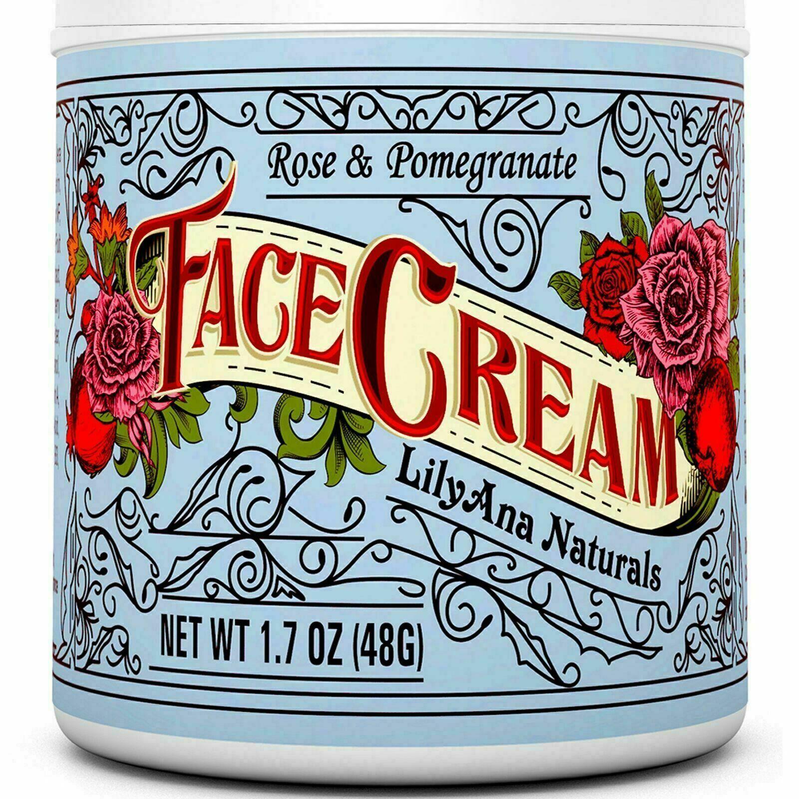 LilyAna Naturals Face Cream Moisturizer Natural Anti Aging S