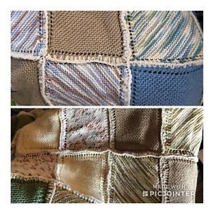 Hand knit Twin size blankets