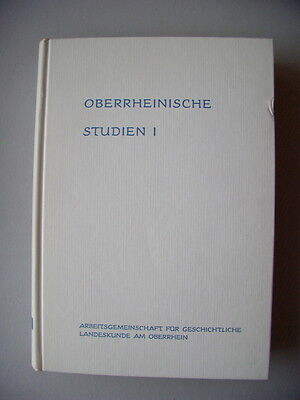 Oberrheinische Studien I 1970 geschichtliche Landeskunde Oberrhein