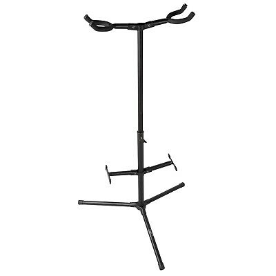 - New Professional Double Dual Acoustic Electric Guitar Bass Tripod Stand Holder