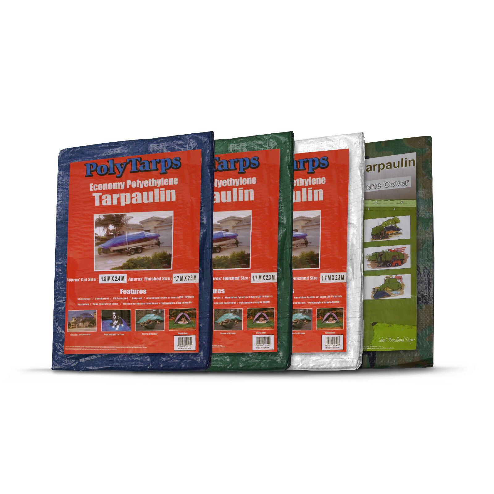 Waterproof Tarpaulin Ground Sheet Lightweight Camping Cover Tarp with Eyelets - 2