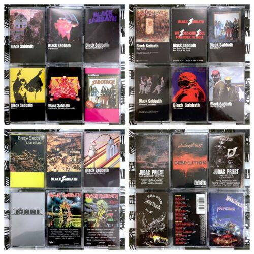 YOU PICK Cassette Lot Heavy Metal - Black Sabbath, Metallica, Maiden + More!