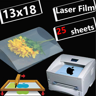 13 X 18silk Screen Printing Transparency Film For Laser Printer Paper25 Sheets