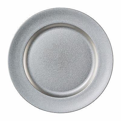 """Melamin TELLER rund """"SHINING"""". Dekoteller metallic 25 cm SILBER. Art: 6017654-49"""