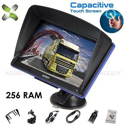 XGODY 7'' Touchscreen Car Truck GPS Navigation Sat Nav US Map Speedcam Free MAP