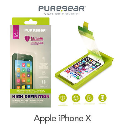 Brand New Pure Gear Hd Tempered Glass Screen Protector For Apple Iphone X