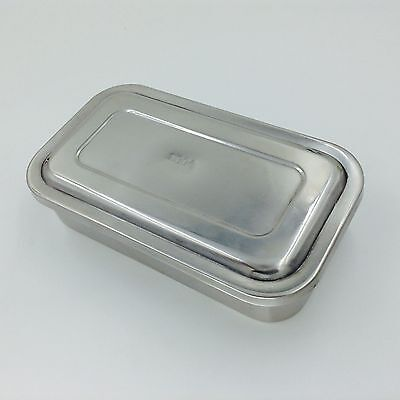 Stainless Steel Instrument Tray Case 8 With Lid Sterilization Tray Surgical