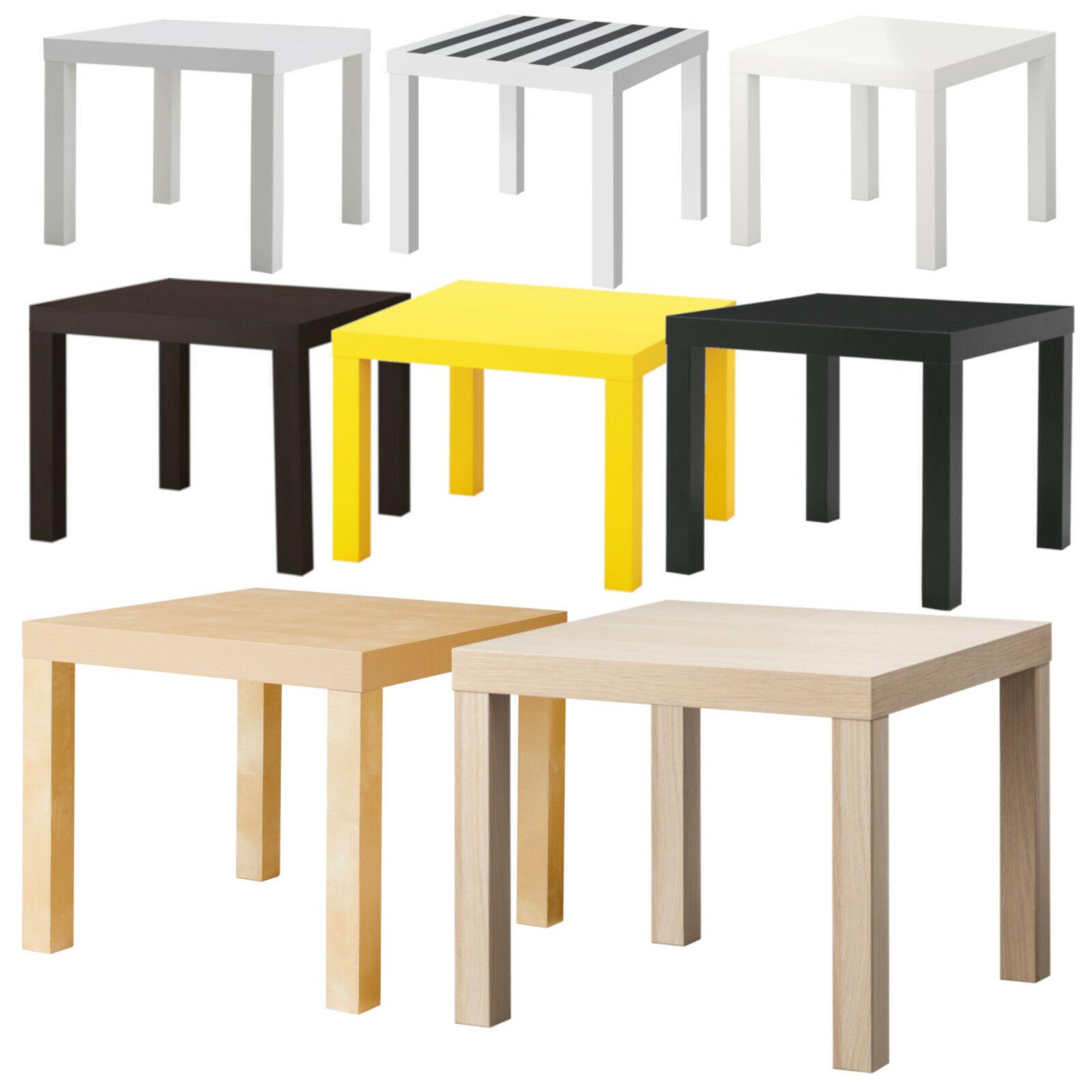 Ikea Lack Beistelltisch 55 cm Weiß Schwarz Rot Grün Gelb Birke Couchtisch Tisch