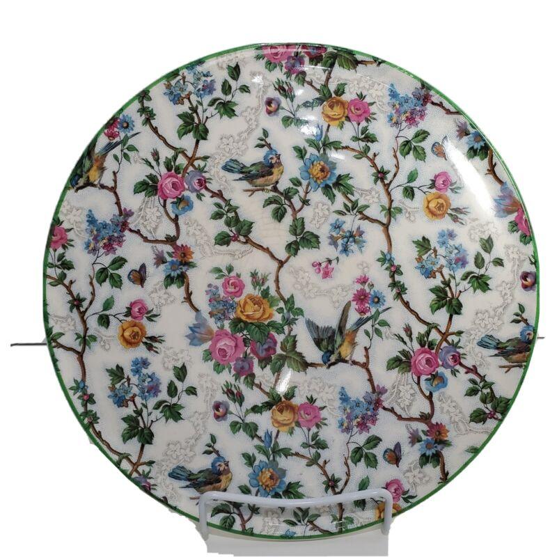 "Vintage Royal Tudor Ware Barker Bros England Lorna Doone Chintz Cake Plate 11"""