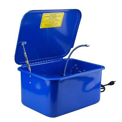 Steel Core 3-1/2 Gallon Electric Portable Parts Washer with Solvent (Gallons Electric Parts Washer)