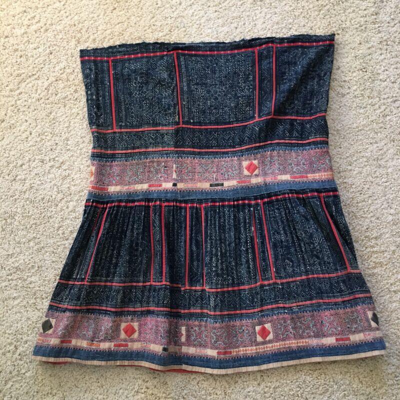 Ethnic Handmade Skirt Hmong Thailand Early 20th Century