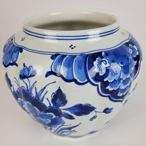 Vintage Delft Bowl Vase Scalloped Signed 1741 (1972) KDI CR