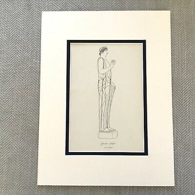 Antique Print Historical Costume Ancient Greek Muse Nymph Goddess Statue ](Greek Muse Costume)