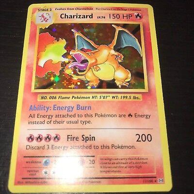 POKEMON: CHARIZARD 11/108 - HOLO RARE CARD - XY EVOLUTIONS - NM