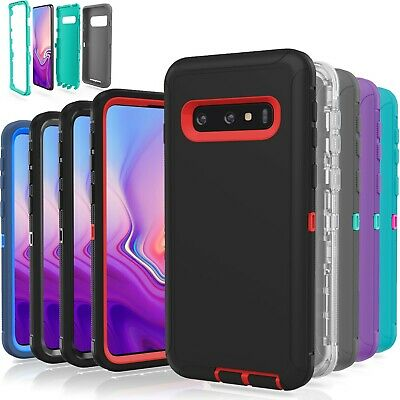 Rubberized Protector Case (Samsung Galaxy S10 / S10 Plus / S10E / 5G Case Shockproof Hybrid Rugged Rubber )