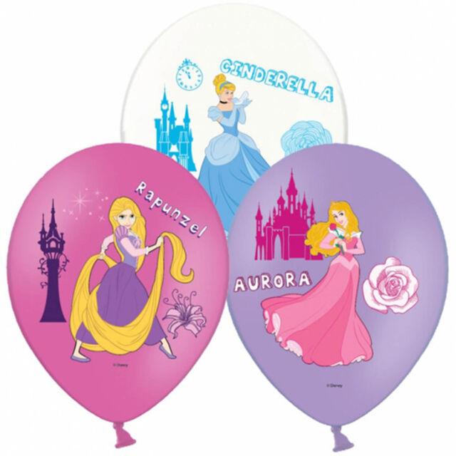 6 Disney Princess Children's Party Luxury 4 Colour Printed Latex Balloons