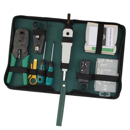 netzwerk werkzeug set 9 teilig elektronik crimpzange lan lsa kabeltester auflege vergleichen auf. Black Bedroom Furniture Sets. Home Design Ideas