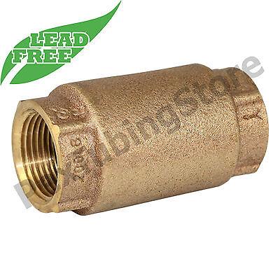 34 Npt Threaded In-line Brass Spring Check Valve Lead-free