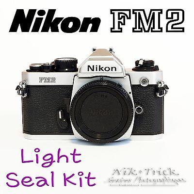 Nikon FM2 ~ Replacement Light Seal Kit ~ Laser Cut, Enough for 3 Cameras!
