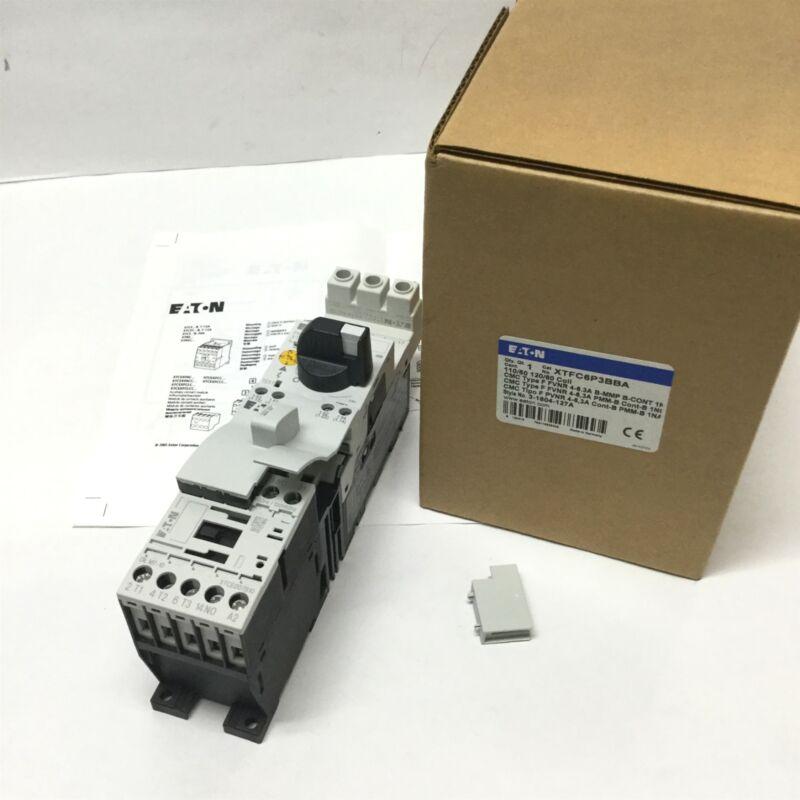 Eaton XTFC6P3BBA 3-Pole Motor Starter Controller DOL, 1NO, 4-6.3A, 120VAC Coil