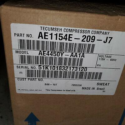 Cooler Compressor Tecumseh 13 Hp Ae4450y-aa1a Ae1154e-209-j7 Aea4448yxa
