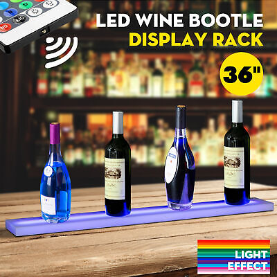 36 Led Lighted Back Bar Liquor Display Shelf Wine Bottle Stand Rack W 44key Rc