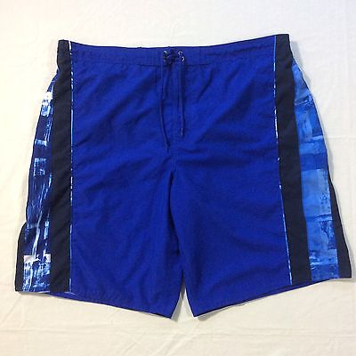 Roundtree & Yorke Blue Mesh Lined Board Swim Shorts Trunks Men's XL