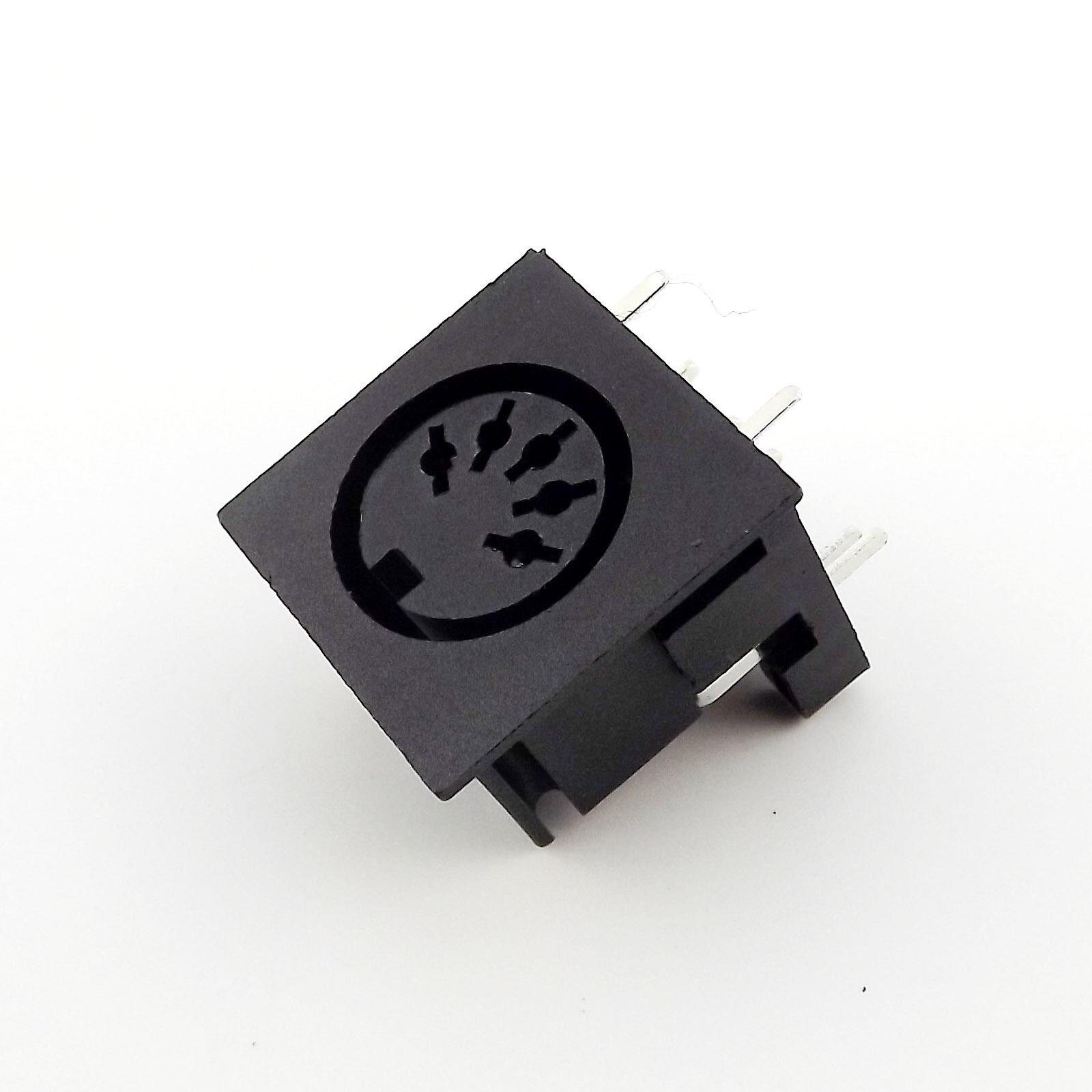 10Pcs DIN 6 Pin Circular Jack Female Panel Mount PCB Mount Connector Adapter B$C