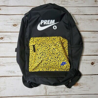 NIKE Premier League Backpack Black Yellow White