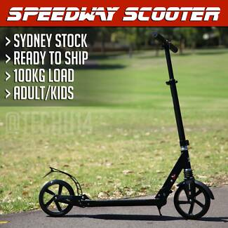 Adult Scooter with Suspension - Lightweight in Matte Black *BNIB