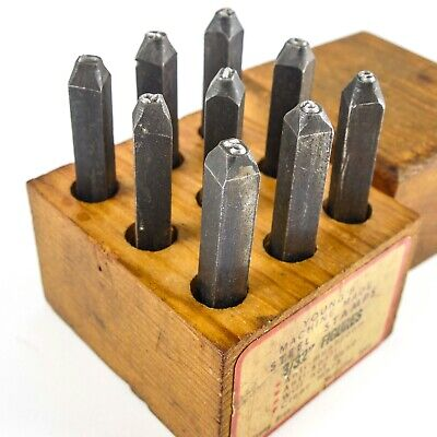 Young Bros 07093 5//16 Characters 9-Piece Steel Stamp Set Heavy-Duty Figures 4 Units
